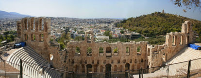 Atene - panorama Fotografie Stock Libere da Diritti