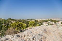 Atene. Vista da Areopagus Fotografia Stock