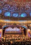 Ateneu romeno, Bucareste Romênia - imagem interior Fotos de Stock Royalty Free