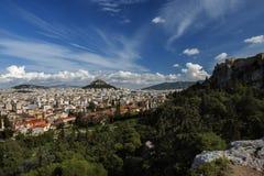 AtenGrekland sikt från akropol Royaltyfri Fotografi