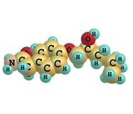 Atenolol molekyl som isoleras på vit Royaltyfria Bilder