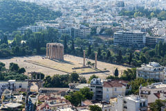 Atens. The Temple of Olympian Zeus Royalty Free Stock Images