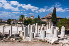 Ateny, Antyczna Romańska agora Obraz Stock