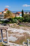 ATENY GRECJA, CZERWIEC, -, 2011: Agor ruiny obok akropolu Fotografia Royalty Free