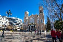 11 03 2018 Ateny, Grecja - główny chrześcijański ortodoksyjny metropolita Zdjęcia Royalty Free