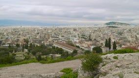Ateny Grecja linii horyzontu niecka zbiory wideo
