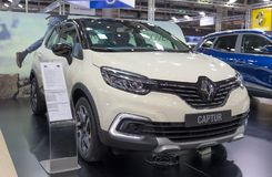 ATENY GRECJA, LISTOPAD, - 14, 2017: Renault Captur przy Aftokinisi-Fisikon 2017 Motorowym przedstawieniem obrazy stock