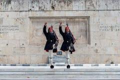 ATENY GRECJA, Marzec, - 14, 2018 Odmienianie prezydencki Gu zdjęcie royalty free