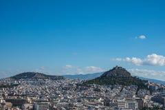 Ateny, Grecja - Panoramiczny widok obrazy royalty free