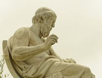 Ateny Grecja, Plato antyczna filozof statua Obraz Stock