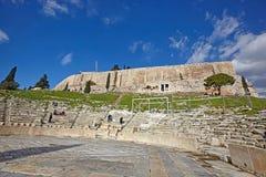 ATENY GRECJA, STYCZEŃ, - 03, 2018: Odeon Dionysus w Acrop Obraz Stock
