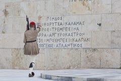 ATENY GRECJA, WRZESIEŃ, - 21: Odmienianie Strażowy ceremon Zdjęcia Royalty Free