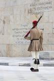 ATENY GRECJA, WRZESIEŃ, - 21: Odmienianie Strażowy ceremon Zdjęcie Stock