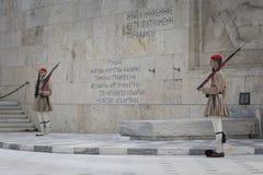 ATENY GRECJA, WRZESIEŃ, - 21: Odmienianie Strażowy ceremon Obraz Royalty Free