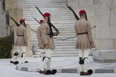 ATENY GRECJA, WRZESIEŃ, - 21: Odmienianie Strażowy ceremon Zdjęcie Royalty Free