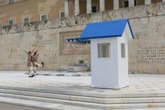 ATENY GRECJA, WRZESIEŃ, - 21: Odmienianie Strażowy ceremon Fotografia Royalty Free