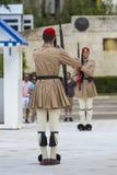 ATENY GRECJA, WRZESIEŃ, - 21: Odmienianie Strażowy ceremon Zdjęcia Stock