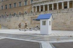 ATENY GRECJA, WRZESIEŃ, - 21: Odmienianie Strażowy ceremon Obraz Stock