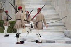 ATENY GRECJA, WRZESIEŃ, - 21: Odmienianie Strażowy ceremon Obrazy Royalty Free