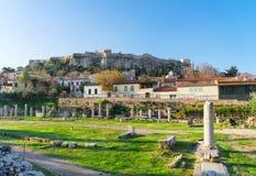 Ateny i akropol Obraz Royalty Free