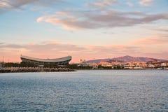 Ateny jak widzieć od Piraeus zdjęcie stock