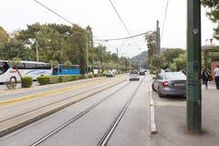 Ateny - lekki ruch drogowy Zdjęcia Royalty Free