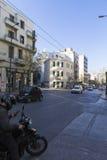 Ateny - lekki ruch drogowy Zdjęcie Royalty Free