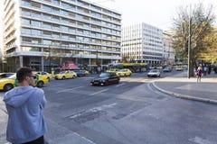 Ateny - lekki ruch drogowy Fotografia Royalty Free