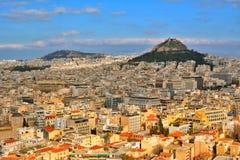Ateny pejzaż miejski Obrazy Royalty Free