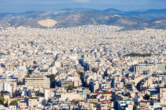 Ateny powietrzny panoramiczny widok Obrazy Stock