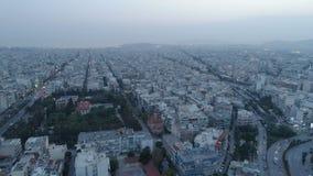 Ateny przy półmrokiem, widok z lotu ptaka zbiory wideo