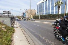 Ateny - ruch drogowy zdjęcia royalty free
