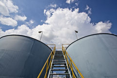 Water tank. Industrial water tank for fire fighting Royalty Free Stock Images