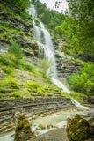 Aterfall en parc national espagnol Ordesa et Monte Perdido, Images libres de droits