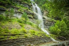Aterfall en parc national espagnol Ordesa et Monte Perdido, Photographie stock libre de droits