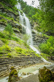 Aterfall in the spanish national park Ordesa and Monte Perdido, Royalty Free Stock Images
