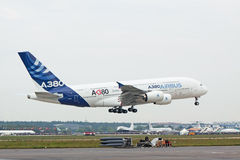 Aterragem A380 Fotos de Stock Royalty Free
