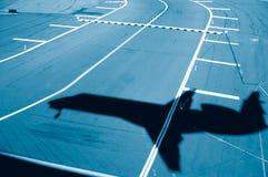 Aterragem da pista de decolagem Imagens de Stock Royalty Free