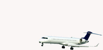 Aterragem de Aeorplane Imagem de Stock Royalty Free