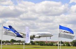 Aterragem de Airbus Fotos de Stock Royalty Free
