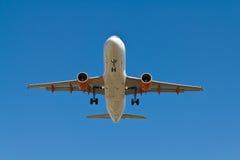 Aterragem de avião Fotos de Stock