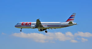 Aterragem de aviões de CSA Fotografia de Stock Royalty Free