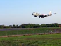 Aterragem de Cargolux Foto de Stock