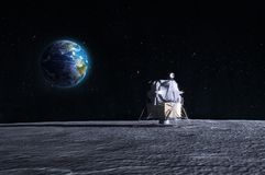 Aterragem de lua Fotografia de Stock