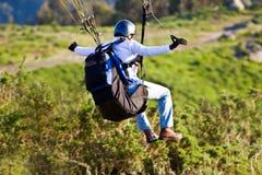 Aterragem do Paraglider Imagem de Stock Royalty Free