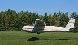 Aterragem do planador do treinamento imagens de stock