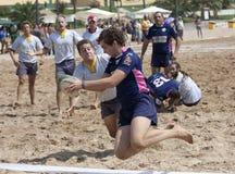 Aterragem do rugby de Baía Imagens de Stock