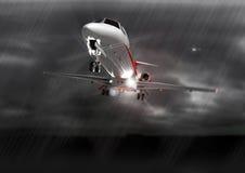 Aterragem no mau tempo Foto de Stock