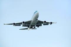 Aterrando 747 Foto de Stock Royalty Free