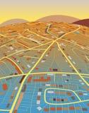 Aterre o mapa Imagem de Stock Royalty Free